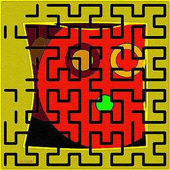 Dee Flouton - Orange Face Maze