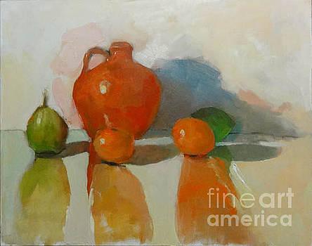 Orange Jar by Nancy Blum
