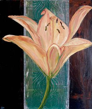 Samar Asamoah - Orange Lily on Brown