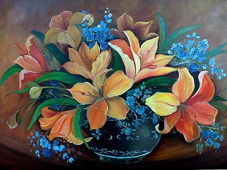 Orange Lilys by Ansie Boshoff