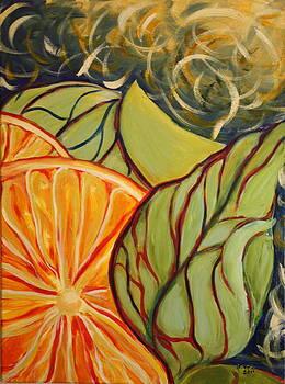 Orange Medley by Gitta Brewster