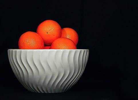 Orange Still Life by Jeannette Sheehy