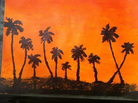 Orange sunset by David Stich