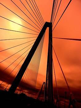 Orange suspension by Sharon Farris