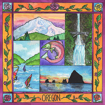 Oregon Montage by Pamela  Corwin