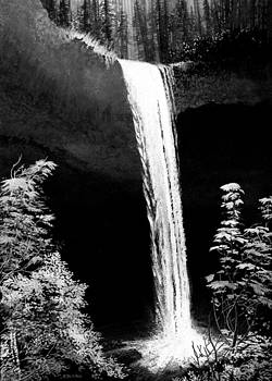 Oregon Waterfall by Robert Duvall