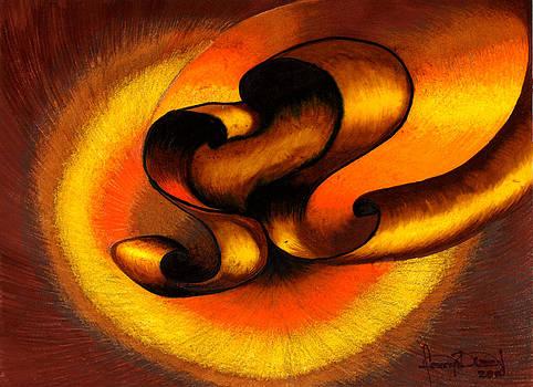 Original Abstract Orange by Fanny Diaz