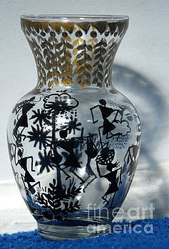 Original Glass vase tribal home decor by Subhash Limaye