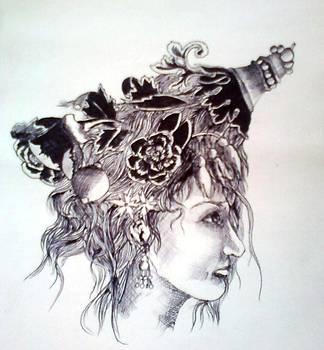 Ornamental Girl by Asif Kasi