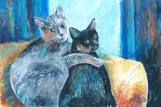 Otto And Max - Best Buds by Arline Wagner