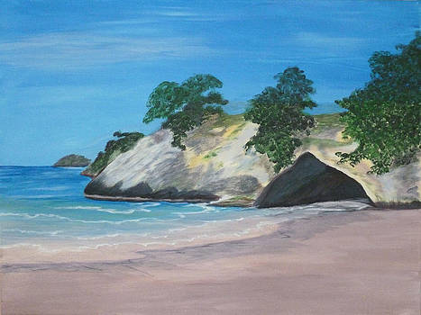 Outside Cathedral Cove by Nancy Nuce