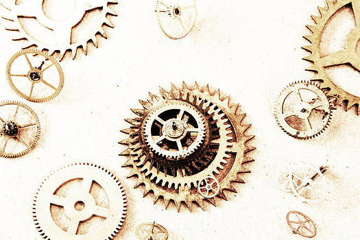 OverExposed Gears by David Paul Murray