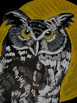 Doris  Lane Grey - Owl in Moonlight