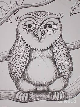 Owl sketch by Barbara Stirrup