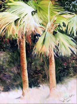 Oyster Catcher Palms by Patricia Huff