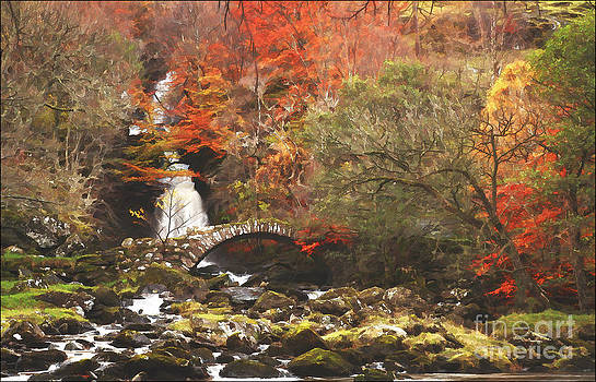 Pack Bridge Glen Lyon Scotland by George Hodlin