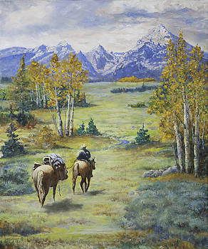 Pack Horse and Rider by Ann Arensmeyer