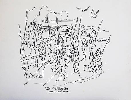 Padre Island Fishermen by Aileen Markowski