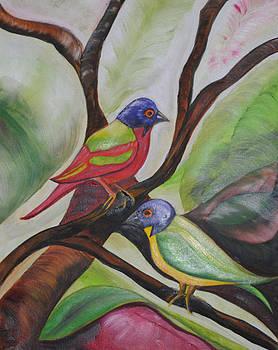 Painted Buntings by Melanie Wadman