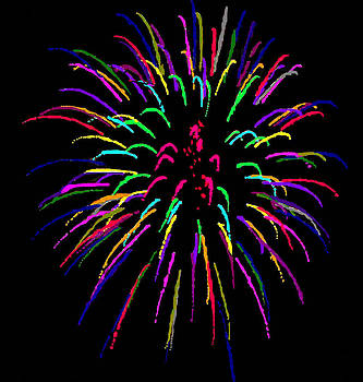 Painted Fireworks by Joan Powell