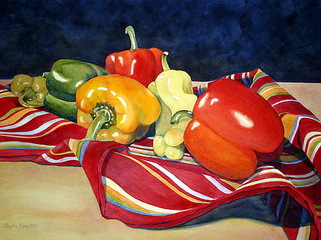 Painted Peppers by Daydre Hamilton