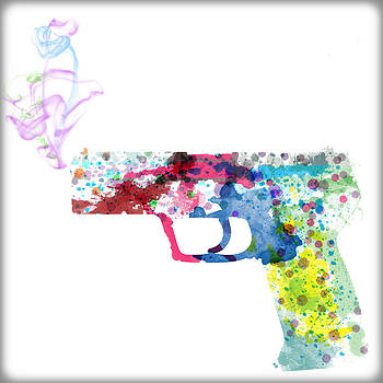 Painted Pistol  by Leon Violaris