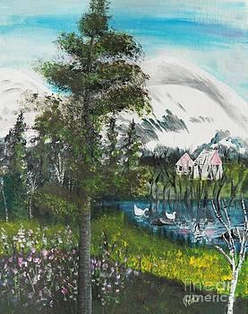 Judy Via-Wolff - Painting   Early Spring Adirondack