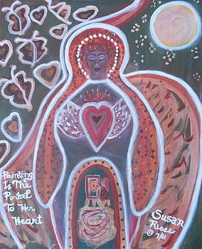 Painting Is The Portal To Her Heart by Susan Risse