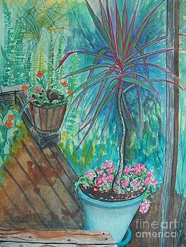 Judy Via-Wolff - Painting Life Blooms on the Deck