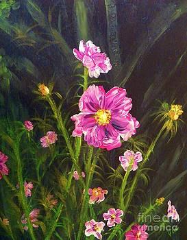 Judy Via-Wolff - Painting Pink Streaked Cosmos