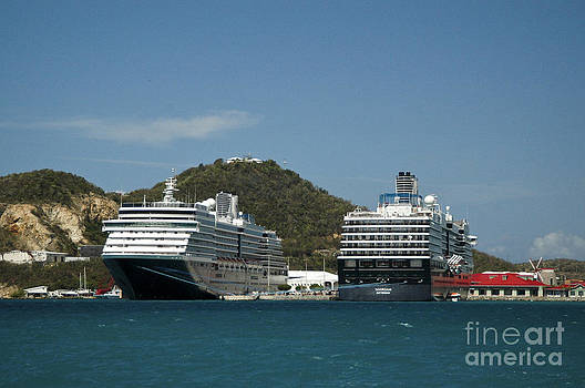 Tim Mulina - Pair of Docked Holland America Liners