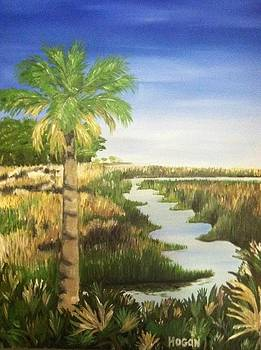 Palm And Marsh by Hogan Willis