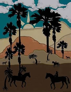 Palm Trees and Sunshine by Dede Shamel Davalos