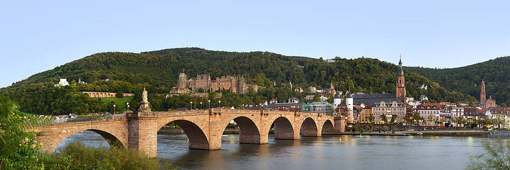 Panorama of old Heidelberg by Travel Images Worldwide