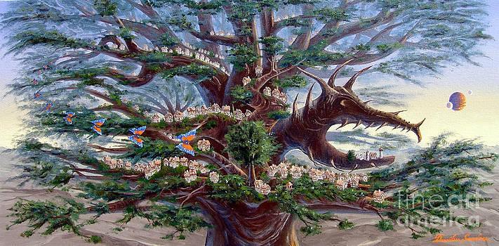 Panoramic Lorn Tree from Arboregal by Dumitru Sandru