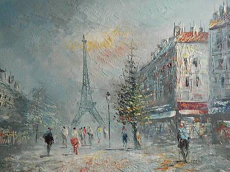 Paris At Dusk by Lauren Brown