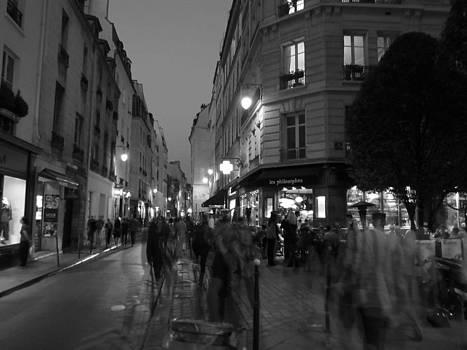 Paris At Night by Len Yurovsky