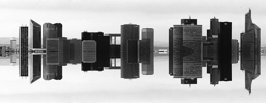 Paris La Defense Skyline mirrored by Cedric Darrigrand