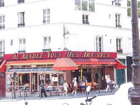 Paris Street Scene by Maggie Cruser