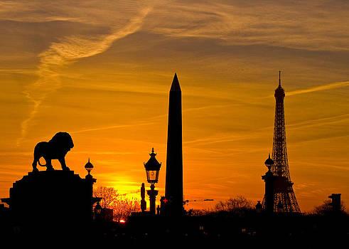 Paris Sunset by Kurt Weiss