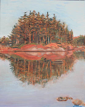 Parry Sound Reflections by Linda Woolven