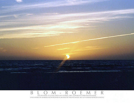 Partial Eclipse at Sunset by Kimberly Blom-Roemer