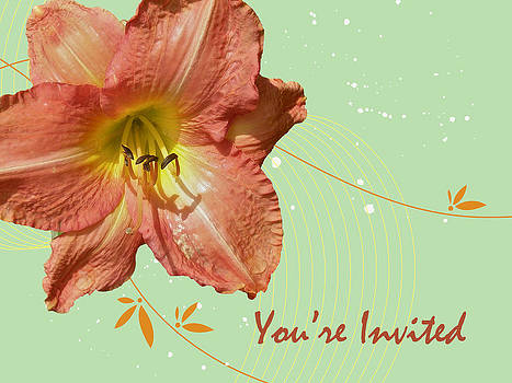 Mother Nature - Party Invitation - Orange Day Lily