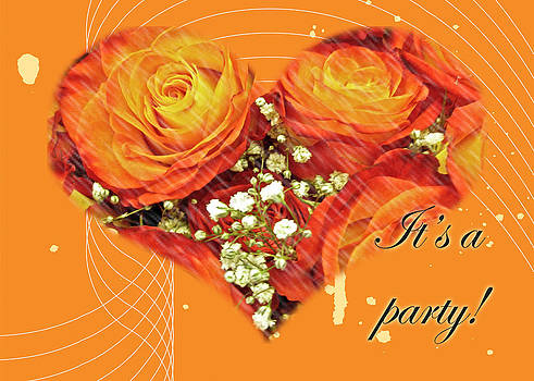 Mother Nature - Party Invitation - Orange Roses