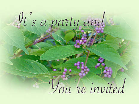 Mother Nature - Party Invitation - General - American Beautyberry Shrub