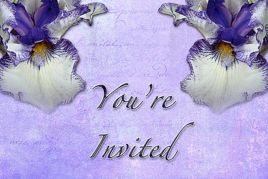 Mother Nature - Party Invitation - General - Wild Iris - Blue Flag
