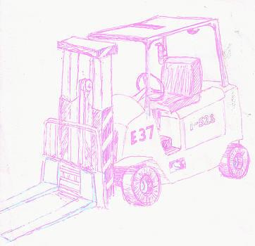 Pastel Forklift by Corey Finney
