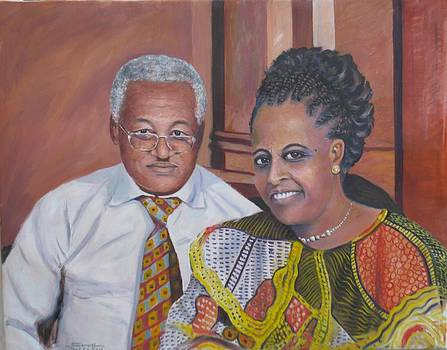Pastor and Mrs. Bekele by Samuel Daffa