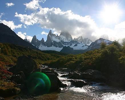 Patagonian Sun Flare by Tia Anderson-Esguerra