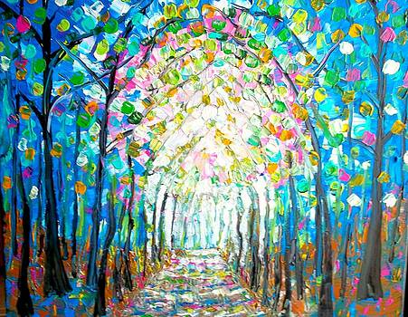 Path Through The Forest by Shirley Smith